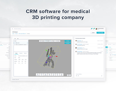 CRM software for medical 3D printing company