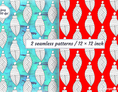 Seamless Christmas pattern. Digital paper