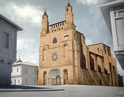 [3D] Notre-Dame du Bourg de Rabastens (France) in 3D