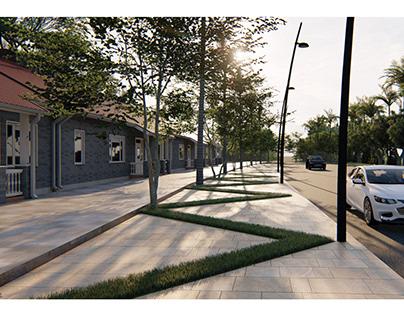 Pavement Landscape & Children Garden