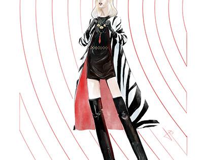 Bravo Bardot Zebra