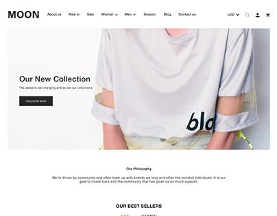 T-Shirt | E-commerce Website | UX/UI Design | Concept