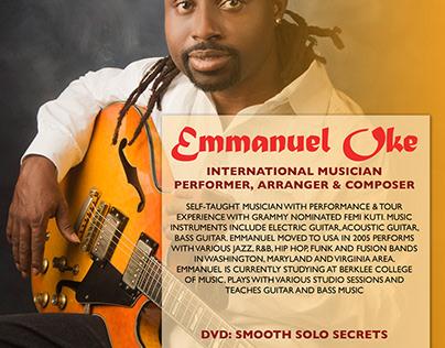 Musician Flyer Design for Emmanuel Dokun Oke