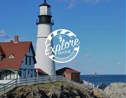 Explore Maine Lighthouses Logo