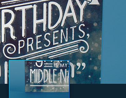 Greeting Card - Typography Bokeh