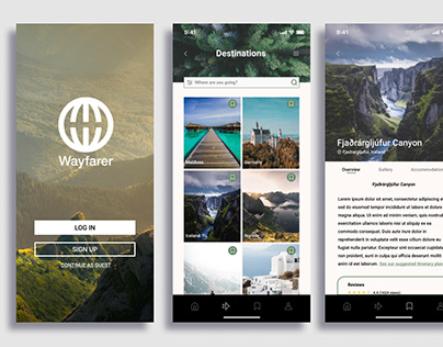 UI Design Project: Wayfarer Travel App
