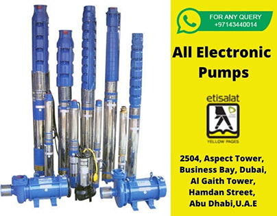 Find best deals for all kind of Electronic Pumps in UAE