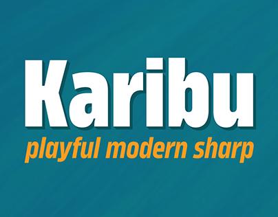 Karibu™ typeface - mega family