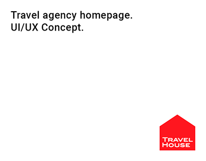 TRAVEL AGENCY HOMEPAGE - UI/UX Concept