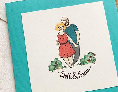 Illustration for Wedding Invitation