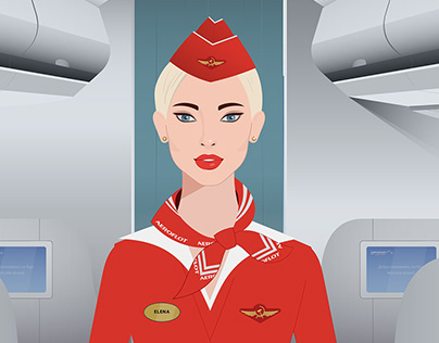 Illustrations for Aeroflot -Russian Airlines