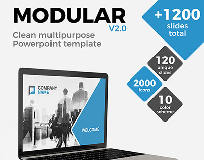 MODULAR / Clean multipurpose Powerpoint template