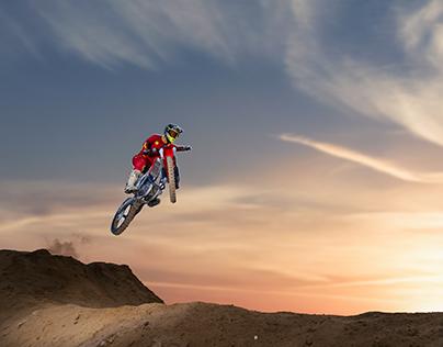 Morning motocross
