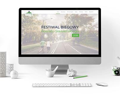 Website design/visual identification - Festiwal Biegowy
