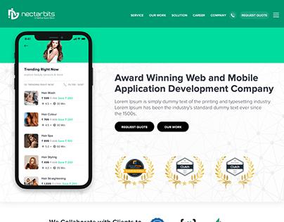 Mobile & Web App Development Home Page