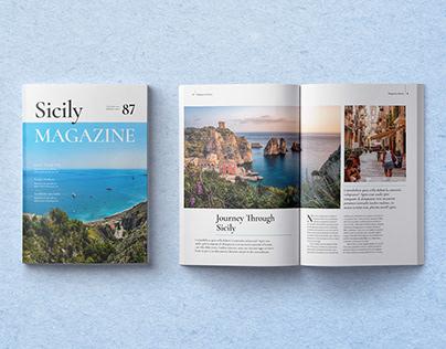 Sicily Magazine Template
