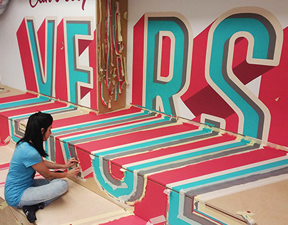 Verse Anamorphic Lettering