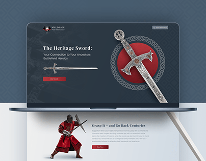 My Lineage - Landing Page Design