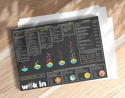 WOK IN / menu & web design