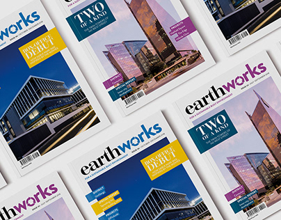 Earthworks magazine layout