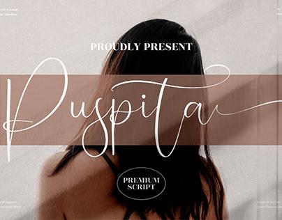 Puspita - Beautiful Script Font