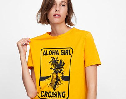 ZARA WOMAN / SS 19 /Aloha Girl Crossing