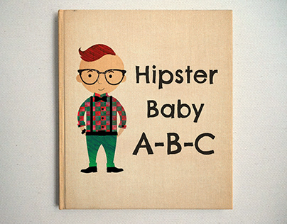 Illustration for Hipster Baby Book