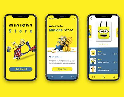 Minions Store _Mobile App Design
