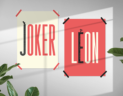 Joker & Leon Movie Typography Posters