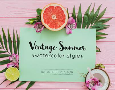 Free Vintage Summer Vector Graphics