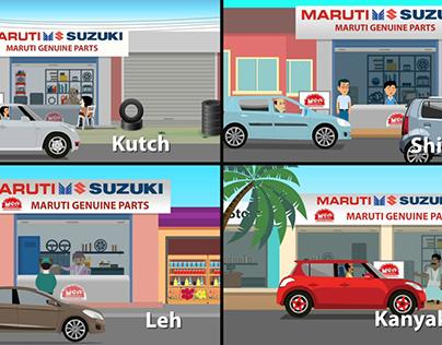 Maruti Suzuki Parts Store in India