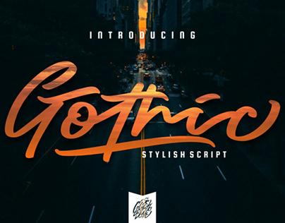 FREE | Gothic Bold Stylish Script