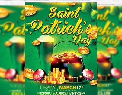 Saint Patricks Day - Premium Flyer Template + Facebook