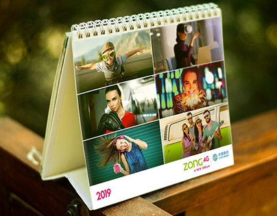 Calendar Design | Table Calendar | ZONG 4G A NEW DREAM