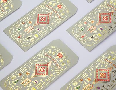 eye candle 2018 犬年紅包袋設計
