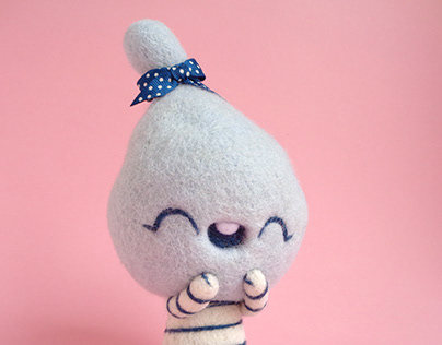 Ceecee, cotton candy girl - Blue Raspberry Art Toy