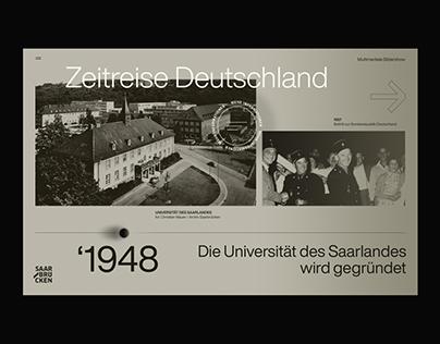 Zeitreise Deutschland - Timeline redesign 2020