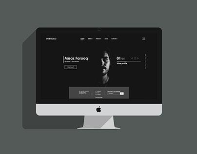 Web Portfolio UI Design
