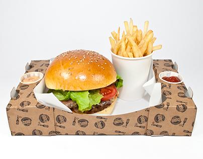 Hot!BBQ Burger Crate