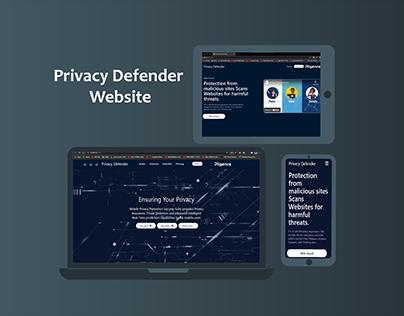 Pligence Privacy Defender Website