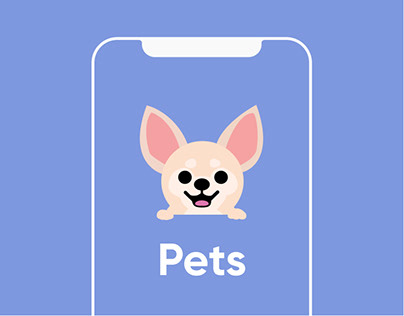 Pets - mobile app and landing page