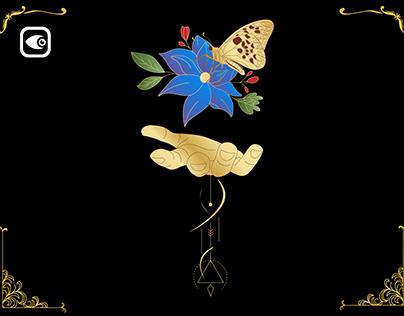 Hand Floral Geometry - Spiritual Alchemy Pakcage