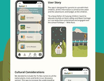 GoCamp! App design