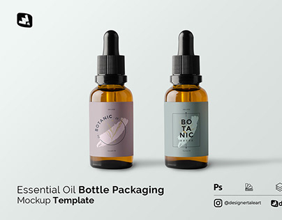 Essential Oil Packaging Mockup