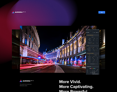 Aurora HDR product page. Concept