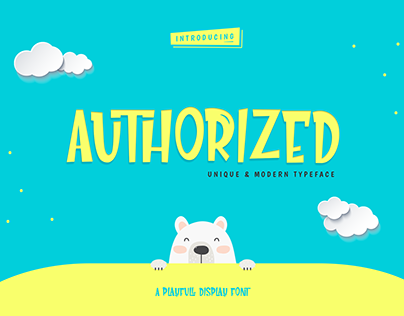 Authorized Playful Display Fonts