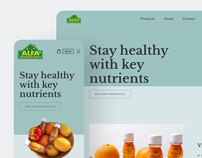 Website Design for AlfaProduct Store