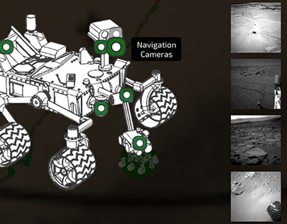 Mars - following two rovers' footsteps