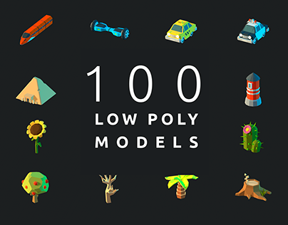 100 Low poly models