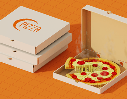 Voxel Pizza